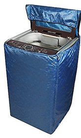 Khushi Creations Square Design Top Load Washing Machine Cover(Blue)