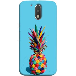 FUSON Designer Back Case Cover for Motorola Moto G4 :: Moto G (4th Gen) (Light Bright Cream Pineapple Lamp Ananas Pineapple Skin)
