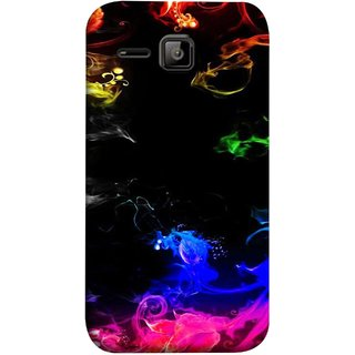 FUSON Designer Back Case Cover for Micromax Bolt S301 (Smoking Painting Sprials Blue Black Green Leaves )