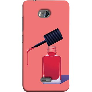 FUSON Designer Back Case Cover for Micromax Bolt Q336 (Beautiful Cute Nice Couples Pink Design Paper Girly)