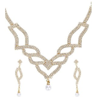 Ethnic Jewels Gold Alloy Jewellery Set For Women