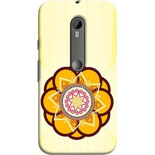 FUSON Designer Back Case Cover for Motorola Moto G3 :: Motorola Moto G (3rd Gen) :: Motorola Moto G3 Dual SIM (Best Rangoli Patterns Treditional Photo Wallpapers )