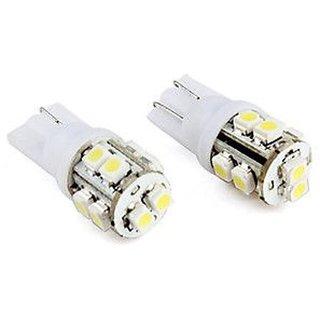 2 Pcs. 10 SMD LED Bulb 12 Volt DC Universal Bike Car Indicator Parking Bulb White