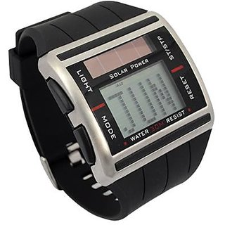 Sport Digital Solar Power Binary Watch With Scrolling Time