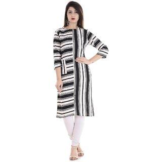 ske printed designer stitched kurti for women