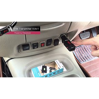 2A Bluetooth Car Charger USB Mp3 and Hands-free Supported With Display