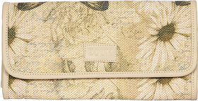 Zouk Jute and Khadi Butterfly Printed Clutch for Women's - Multicolor