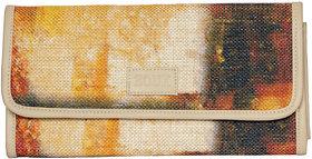Zouk Autumn Jute and Khadi Printed Clutch for Women's - Multicolor
