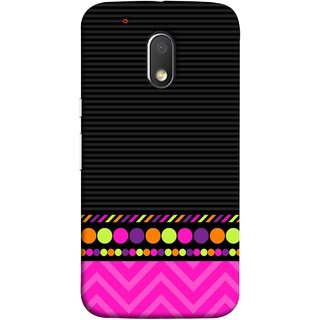 FUSON Designer Back Case Cover for Moto G Play (4th Gen) :: Motorola Moto G4 Play (White Pack Craft Paper Dots Black Background)