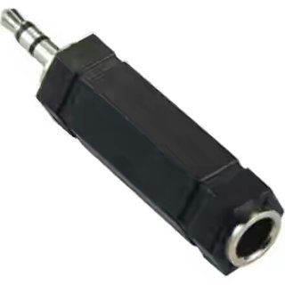 3.5mm Jack STEREO to 6.35mm Jack MONO Audio Adaptor Converter