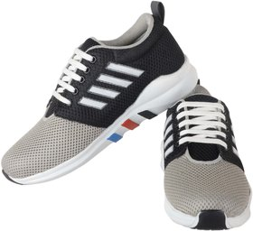 Running rider Black  White  Net Men's Casual Shoes