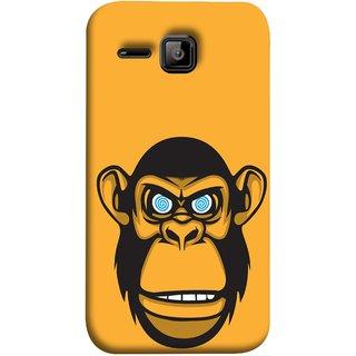 FUSON Designer Back Case Cover for Micromax Bolt S301 (Orange Background Open Ears Black Hairs Jungle Nose)