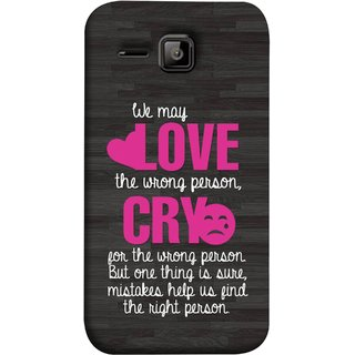 FUSON Designer Back Case Cover for Micromax Bolt S301 (Mistakes Help Us Find Correct Person Hearts )