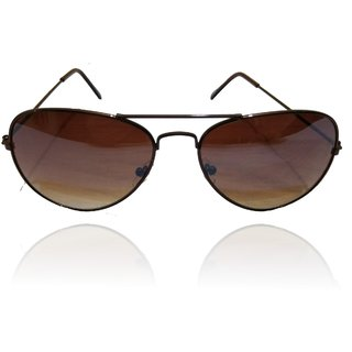 A ICONIC Inc Double Shade Lens with Brown Metal Frame (DOSI-A-006)