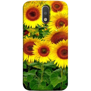 FUSON Designer Back Case Cover for Motorola Moto G4 :: Moto G (4th Gen) (Field Of Bright Happy Sunflowers Outside Oil Food)