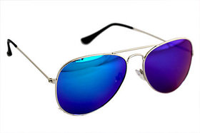 Derry Blue Mirror Aviator Men Sunglasses
