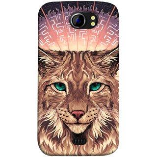 FUSON Designer Back Case Cover for Micromax Canvas 2 A110Q  :: Micromax A110Q Canvas 2 Plus :: Micromax Canvas 2 A110 (Green Ankho Wali Billi Cats Sunshine Concentrate)