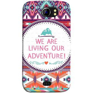 FUSON Designer Back Case Cover for Micromax Canvas 2 A110Q  :: Micromax A110Q Canvas 2 Plus :: Micromax Canvas 2 A110 (Colourful Wallpaper Best Quotes Bright Wall Design)