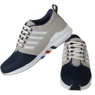 buy running rider black net men's casual shoes online