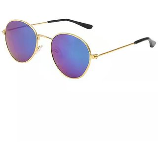 fead778405 Buy Derry Sunglass in Vintage style in Blue Mirror Shade Online ...