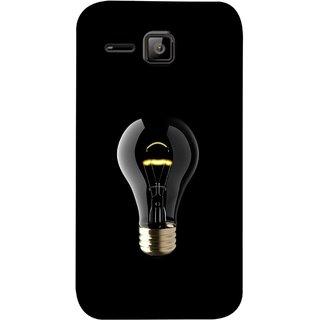 FUSON Designer Back Case Cover for Micromax Bolt S301 (Hanging Light Bulb In Dark Room Ceiling Darkness )