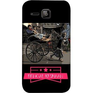 FUSON Designer Back Case Cover for Micromax Bolt S301 (Man Pulling Hand Rickshaw On Road Kolkata Bengal)
