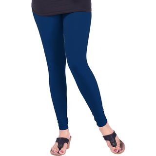 Navy Blue Cotton Lycra Leggings