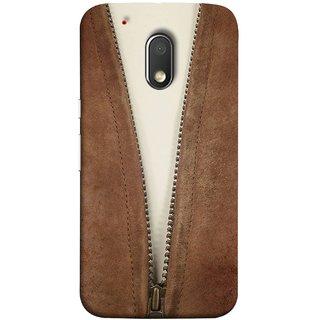 FUSON Designer Back Case Cover for Moto G Play (4th Gen) :: Motorola Moto G4 Play (Biker Man Zip White T Shirt Best Wallpaper Designs)
