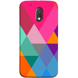 FUSON Designer Back Case Cover for Moto G Play (4th Gen) :: Motorola Moto G4 Play (Abstract Painting Colored Triangles Acrylic Painting)