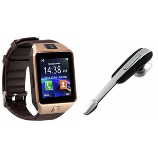 Mirza DZ09 Smartwatch and HM1000 Bluetooth Headphone for SAMSUNG GALAXY JI 4G(DZ09 Smart Watch With 4G Sim Card, Memory Card HM1000 Bluetooth Headphone)