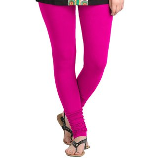 Dark Pink Cotton Lycra Leggings