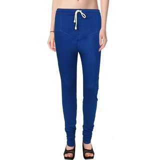 Ruby Royal Blue Cotton Lycra Leggings