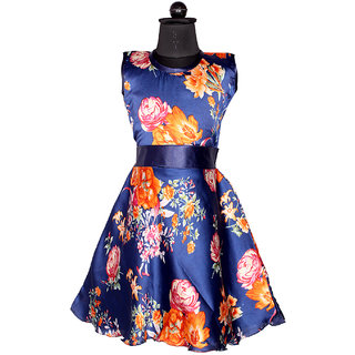 Delhiite Girls Satin  A- Line Dress