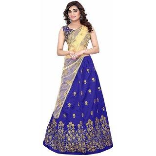 New Latest Superb Designer Royal Blue Embroidred Lehenga Choli