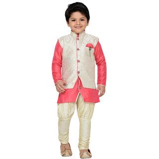 7fc36f29cc0f Buy AJ Dezines Kids Kurta Pyjama Waistcoat Set for Boys Online - Get ...