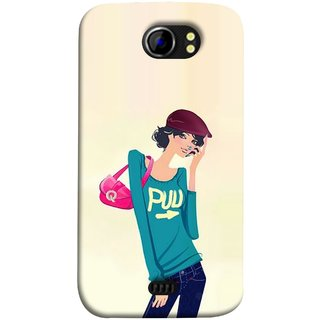 new style 92a0a af171 FUSON Designer Back Case Cover for Micromax Canvas 2 A110Q :: Micromax  A110Q Canvas 2 Plus :: Micromax Canvas 2 A110 (Morden Lady Tshirt Jeans Cap  ...