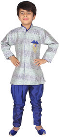 DELHIITE Boys Indo-Western 1 Kurta, 1 Breeches & 1 Jacket Set In Multi Color