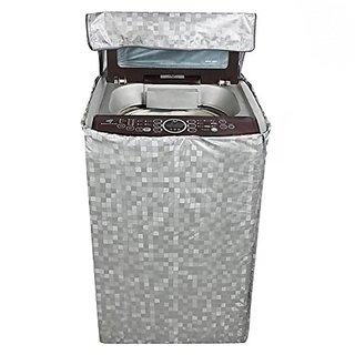 Khushi creations Washing Machine Cover (Shiny Silver)
