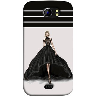 FUSON Designer Back Case Cover for Micromax Canvas 2 A110Q  :: Micromax A110Q Canvas 2 Plus :: Micromax Canvas 2 A110 (On Stage High Heel Cat Walk Black Dress )