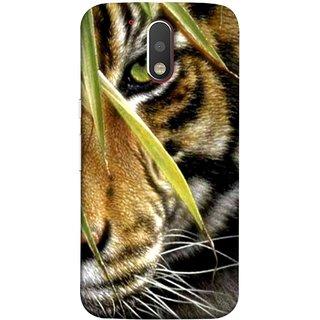 FUSON Designer Back Case Cover for Motorola Moto G4 :: Moto G (4th Gen) (Animal Bengal Indian Jungle King Whiskers Grass)