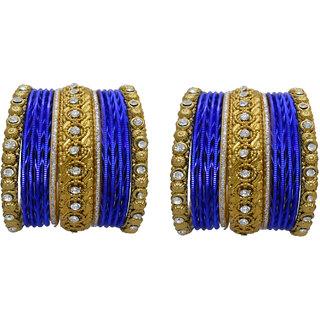 My Design Wedding Chura Blue Bridal Choora Bangles For Womens And Girls(Size-1.12)