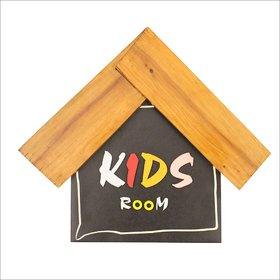 Wooden Hut Shaped - Kids Room - Display Designer Name Plate ( 17 x 15 )