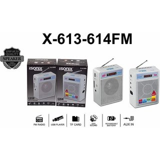 Best4U iSonix Branded FM Portable Transistor/Speaker/Radio/USB/SD MP3 Player+Display