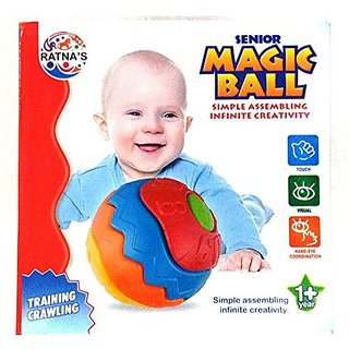 Ratna's Toyztrend Magic Ball Light Weight Assembling Toy, Training Crawling For Infants, Non Toxic
