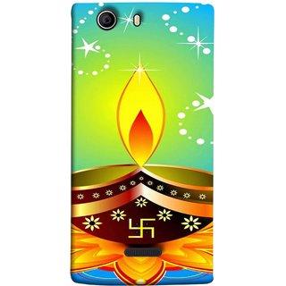 FUSON Designer Back Case Cover for Micromax Canvas 5 E481 (Wallpaper Vector Beautiful Vector Diwali Diya)