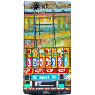 FUSON Designer Back Case Cover for Micromax Canvas 5 E481 (Decorated Goods Carrier On Indian Road Stop Dil Tera)