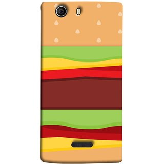 FUSON Designer Back Case Cover for Micromax Canvas 5 E481 (Artwork Green Red Lines Brown Circles Bubbles)