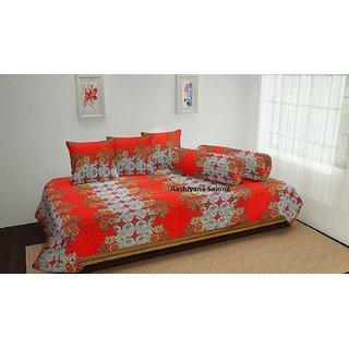 Aashiyana Sajona 100 cotton Diwan Set of 6 Pieces