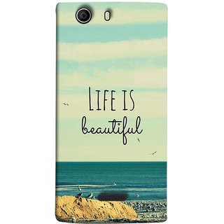 FUSON Designer Back Case Cover for Micromax Canvas 5 E481 (Adorable Wallpapers Best Quotes Enjoy Together Happy)