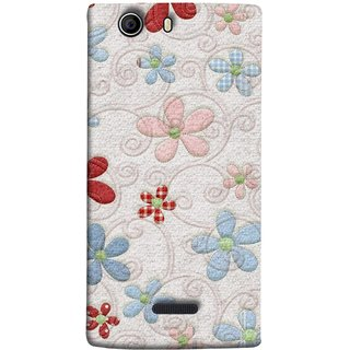 FUSON Designer Back Case Cover for Micromax Canvas 5 E481 (Nice Design Flowers Table Cloth Curtain Cloths )